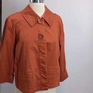 Live a Little orange cotton jacket-sz L